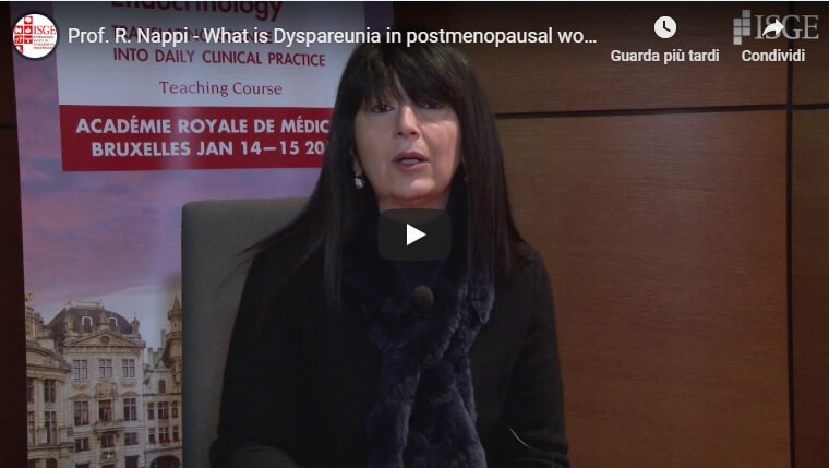 What is Dyspareunia in postmenopausal women?